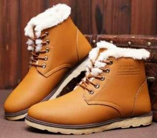 In Stock 44 Men Winter Boots, Winter Shoes, High Cut Shoes, Fur Lined Boots, Dr Martin Style Shoes, Man Winter Shoes