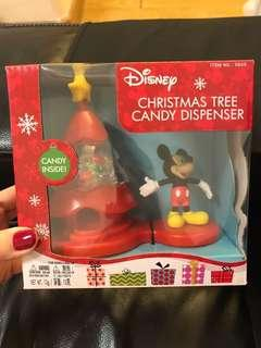 New Mickey Mouse 米奇老鼠 Christmas Tree Candy dispenser with candies