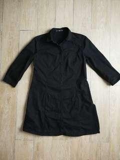 MNG Cotton Black Mini Dress