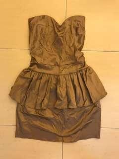 Elegant tube ruffles dress