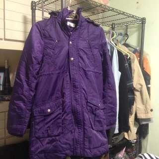 冬日必備 H&M Young 紫色童裝大褸