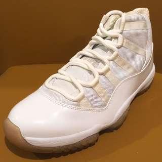 """全新 Nike Air Jordan 11 XI Retro 2010 White/Metallic Silver """"25th Anniversary"""" 408201 101 US Size 9.5 NMD 銀白 米高佐敦 籃球鞋 波鞋 跑鞋 運動鞋 喬丹"""