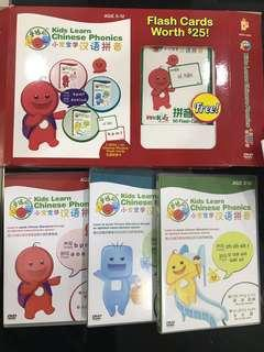 3 DVD 50 Chinese Phonics Flash Card