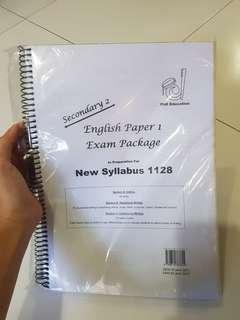 secondary 2 english paper 1 exam package syllabus 1128