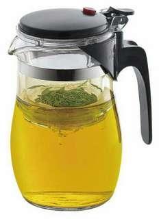 La Gourmet 800ml glass tea maker with mobile polycarbonate filter