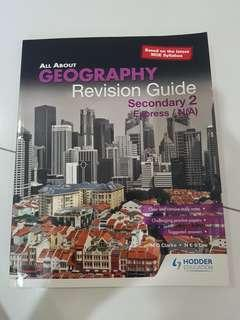 all about geography revision guide book secondary 2 express/na hodder education