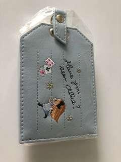 Alice in the wonderland luggage tag