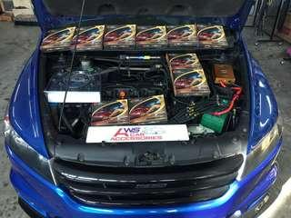 Honda Stream👉2007 Installed 10 Ponit *Power Nano Grounding Cables* N *Zynergy Ground King Vehicle Rectifier*