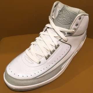"""全新 Nike Air Jordan 2 II Retro 2009 White/Metallic Silver-NTRL GRY """"25th Anniversary"""" 385475 101 US Size 9.5 NMD 白灰 米高佐敦 籃球鞋 波鞋 跑鞋 運動鞋 喬丹"""