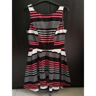 Geometric Red Herring Dress