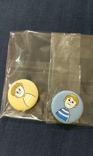 🚚 WannaOne 粉腸徽章組 送貼紙