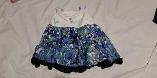 5 BABY GIRL DRESSES (FITS 0-6 MONTHS)