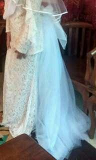 Bridal long skirts white