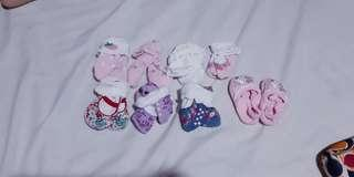 8 Pairs BABY GIRL SOCKS (FITS 0-6 MONTHS)