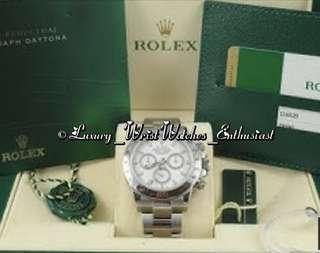 ***SOLD*** LNIB Overseas Set ♛ Rolex Daytona 116520 White Dial
