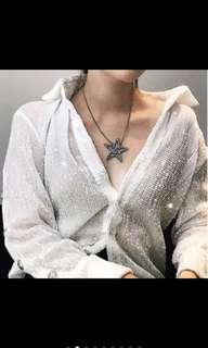 🚚 @CHIC BY CL亮片釘珠雪莉同款造型感襯衫