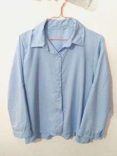 Kemeja Kantor Wanita Biru - Blue Shirt