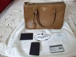 a562b465f1d8 prada saffiano lux double zipper | Luxury | Carousell Singapore