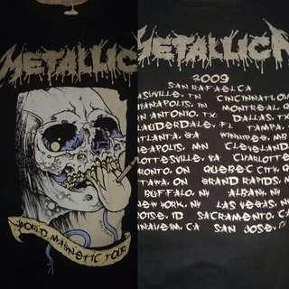 Metallica Tour 2009 Tag Anvil Official License Original