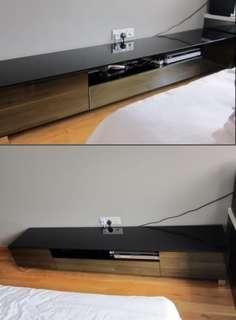* Elegant Tampered Glass TV console with Delivery option