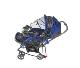 Re-price Harga lebih MURAH NEW Baby Stroller Pliko Blue