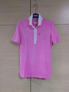 🚚 全新,POLO衫,粉紅色,有瑕疵