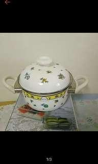 🚚 16公分 泡麵鍋 琺瑯鍋 附鍋蓋