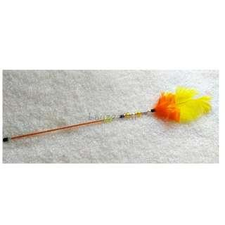 [Ready Stock] TW105 Double Feather Cat Teaser Wand