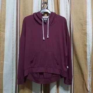 LA Hearts maroon pullover / hoodie