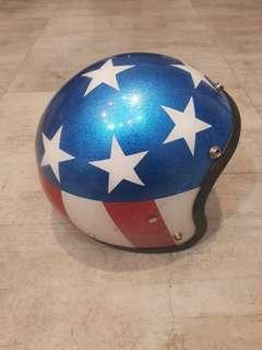 Vintage metalflake star stripes usa flag helmet