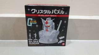 Crystal puzzle Gundam RX 78 clear white ver.