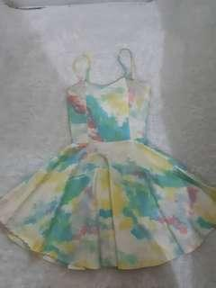 ARIANA GRANDE BUSTIER DRESS