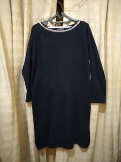 Knit Dress Deep Blue