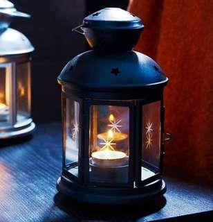 Black Tealight Lantern