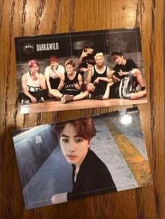 [+post] BTS Jin and Group Dark and Wild Photocard