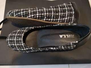 黑白間色二手女裝鞋