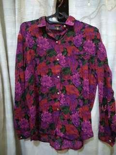 Vintage Flower Top Shirt