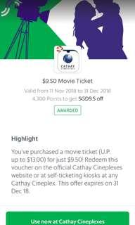 2 Cathay tickets (anytime)