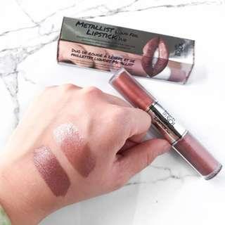 Touch in SOL Metallist Liquid Foil Lipstick Duo - Penny