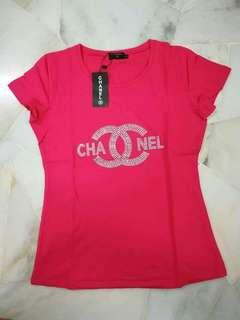Ladies Channel Bling Bling Stone Top