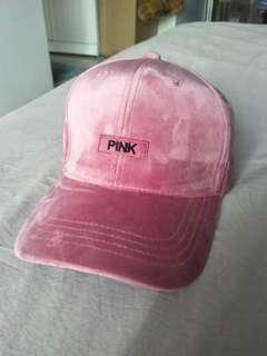🚚 粉色絨面棒球帽卡車帽 老帽