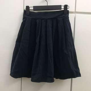 包郵日本Emsexcite深藍色 鬆緊腰短裙 斯文裙