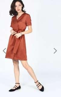 Love Bonito wrap Dress navy colour