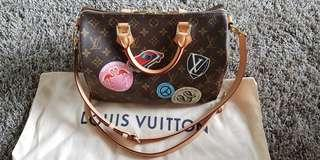 Louis Vuitton LV Monogram World Tour Speedy 30 Bandouliere