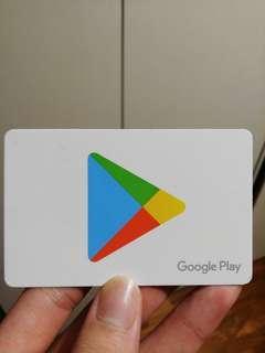 Google play gift card ($30)