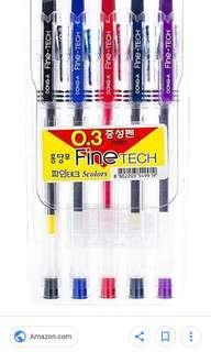 Fine Tech Sign Pen 5 Colors 0.3mm