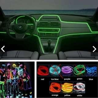 Humorous 1m 2m 3m 4m 5m Flexible Glow El Wire With Car Charger Interface Led Strip Neon Light For Car Decor Car Inner Decoration Light Led Lighting Led Strips
