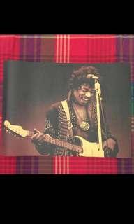 Sale 🌟BN Jimi Hendrix W Guitar N Mic Poster 42x30cm