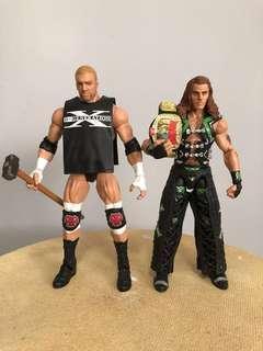 Degeneration X WWE elite HBK Shawn Michaels DX Triple H European belt