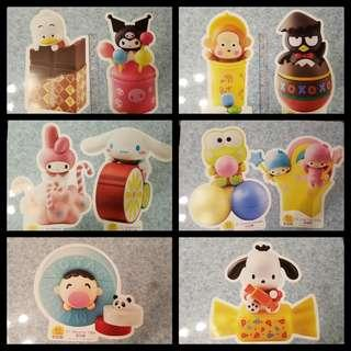 Sanrio x 7-11公仔 Poster(共10款)pekkle, xo, Melody, 大口仔, pc狗, 馬騮仔, 玉桂狗, keroppi